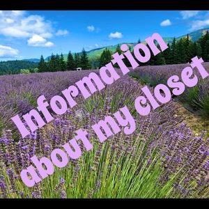 Other - 🌻🌻Information about my closet 🌻🌻